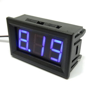 Digital panelmeter 5-30 V DC Blue