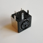 Mini DIN print connector female - 6-polig (PS2)